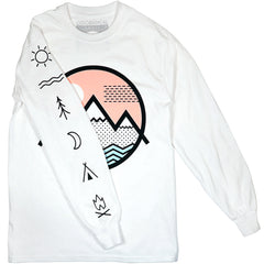 Vibe Mountain Offset Long Sleeve Tee