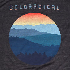 Coloradical Colorado Sunset Circle Print T Shirt