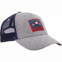 Square Vibes Trucker (Wool and Navy)