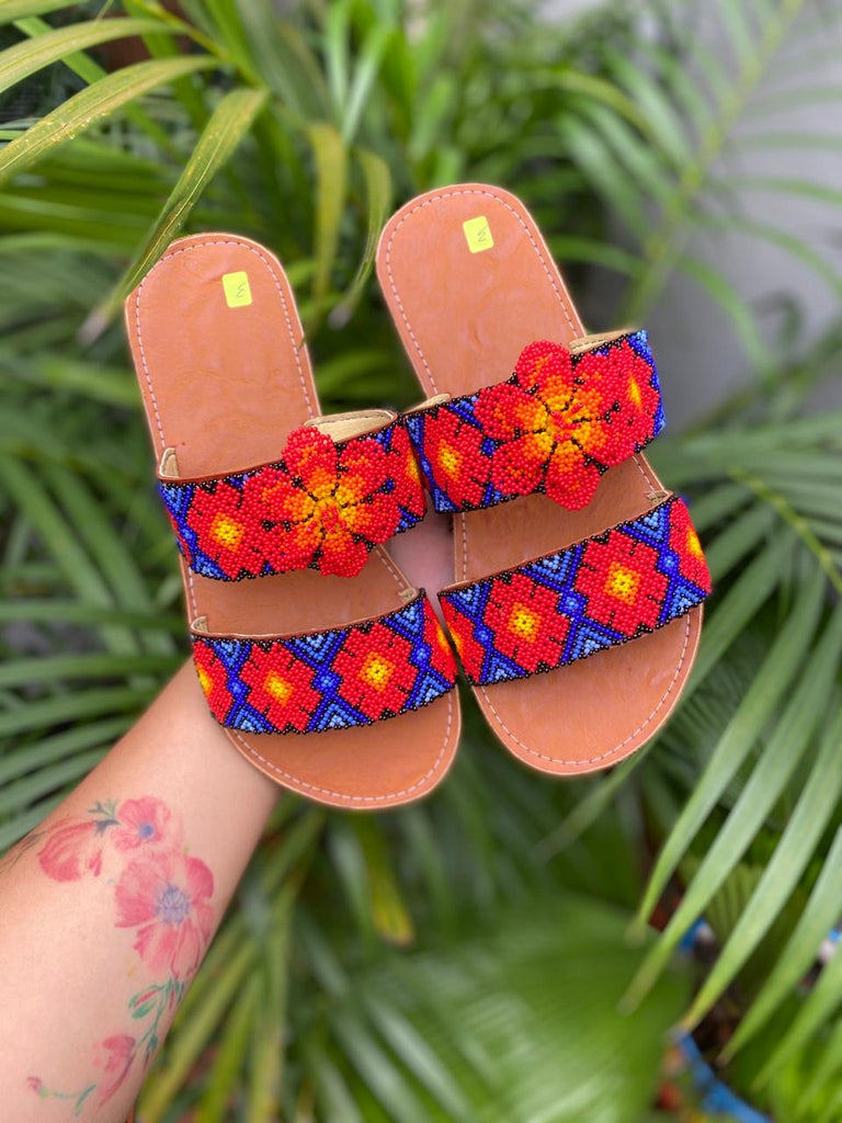 Limited Edition Huichol Huaraches