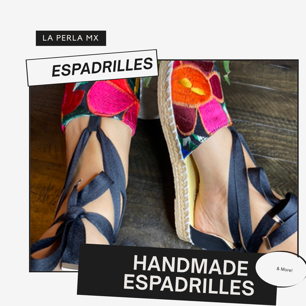 Mexican Espadrilles, Mexican Sandals, embroidered shoes