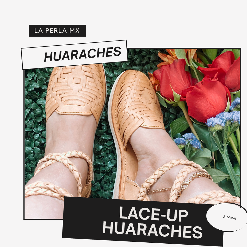 Lace-up huarache, lace-up sandal, Mexican sandal