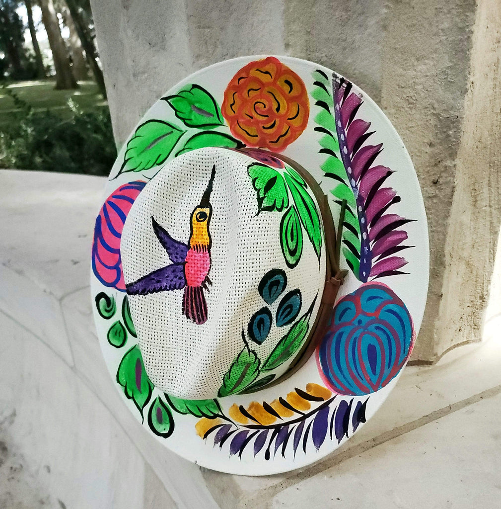 Blossom Hat - LaPerlaMX, ,[Mexican_Huaraches], [Huarache_Sandals], [Huaraches_Mexicanos], [Lace-up_Huaraches], [Leather_Huaraches], [Leather_sandals], [Handmade_sandals], [Handmade_Huaraches], [Mexican_Dresses], [Mexican_Clothing], [Mexican_shoes], [Mexican_Sandals], [women's_huarche_sandals], [Handwoven_Sandals]