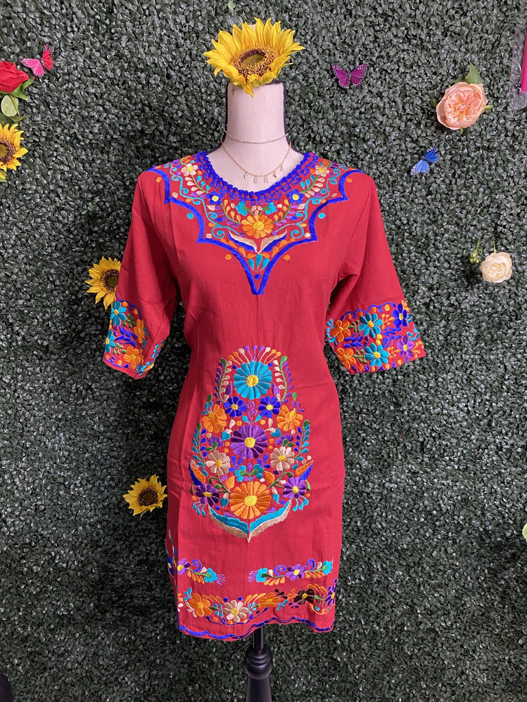 Boho Princesses Dress - RED - LaPerlaMX