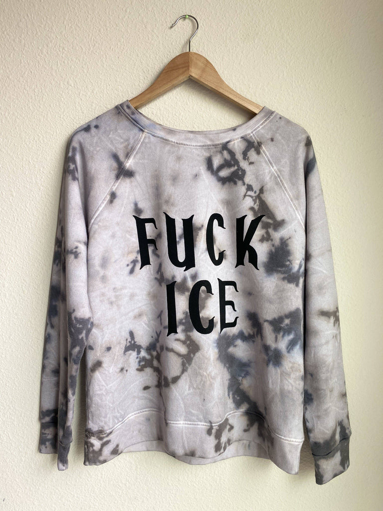 FUCK ICE Crewneck - LaPerlaMX, ,[Mexican_Huaraches], [Huarache_Sandals], [Huaraches_Mexicanos], [Lace-up_Huaraches], [Leather_Huaraches], [Leather_sandals], [Handmade_sandals], [Handmade_Huaraches], [Mexican_Dresses], [Mexican_Clothing], [Mexican_shoes], [Mexican_Sandals], [women's_huarche_sandals], [Handwoven_Sandals]