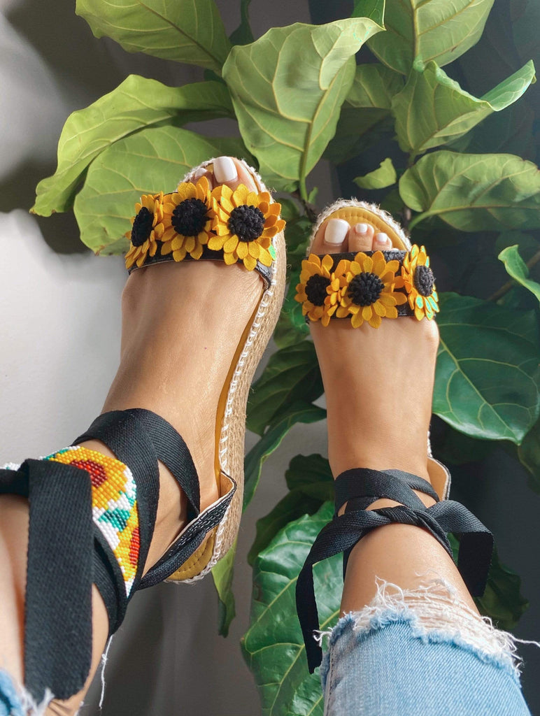 Girasol Espadrilles - LaPerlaMX, ,[Mexican_Huaraches], [Huarache_Sandals], [Huaraches_Mexicanos], [Lace-up_Huaraches], [Leather_Huaraches], [Leather_sandals], [Handmade_sandals], [Handmade_Huaraches], [Mexican_Dresses], [Mexican_Clothing], [Mexican_shoes], [Mexican_Sandals], [women's_huarche_sandals], [Handwoven_Sandals]