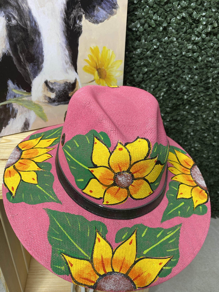 GIRASOL Hat - Pink - LaPerlaMX, ,[Mexican_Huaraches], [Huarache_Sandals], [Huaraches_Mexicanos], [Lace-up_Huaraches], [Leather_Huaraches], [Leather_sandals], [Handmade_sandals], [Handmade_Huaraches], [Mexican_Dresses], [Mexican_Clothing], [Mexican_shoes], [Mexican_Sandals], [women's_huarche_sandals], [Handwoven_Sandals]