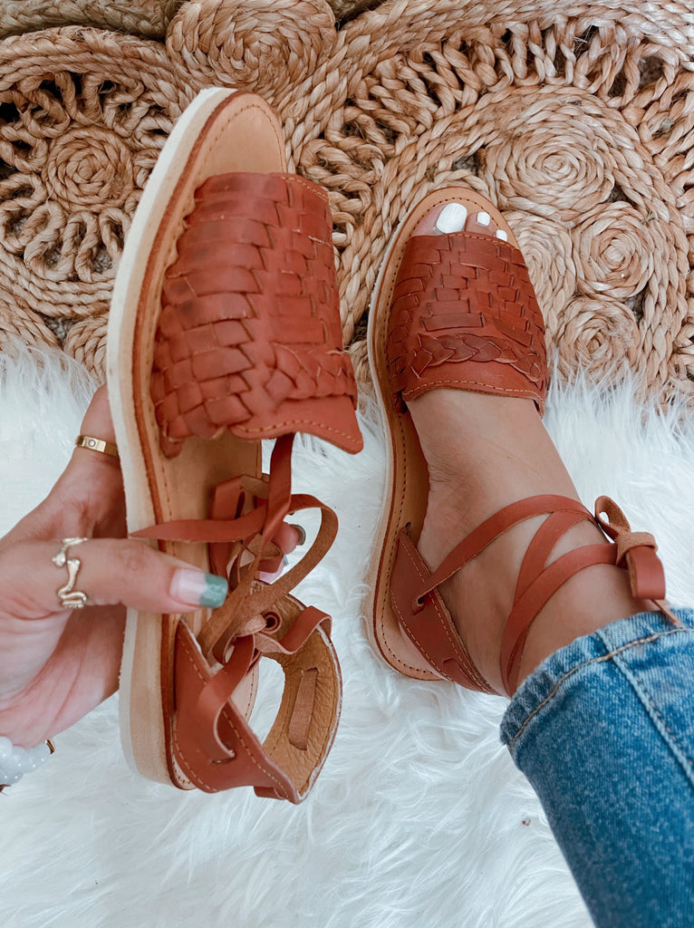 Mirinda Lace-Up Huarache Sandals -Shedron - LaPerlaMX