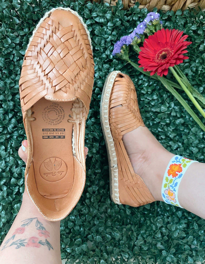 Julia Tan Huarache Sandals - LaPerlaMX