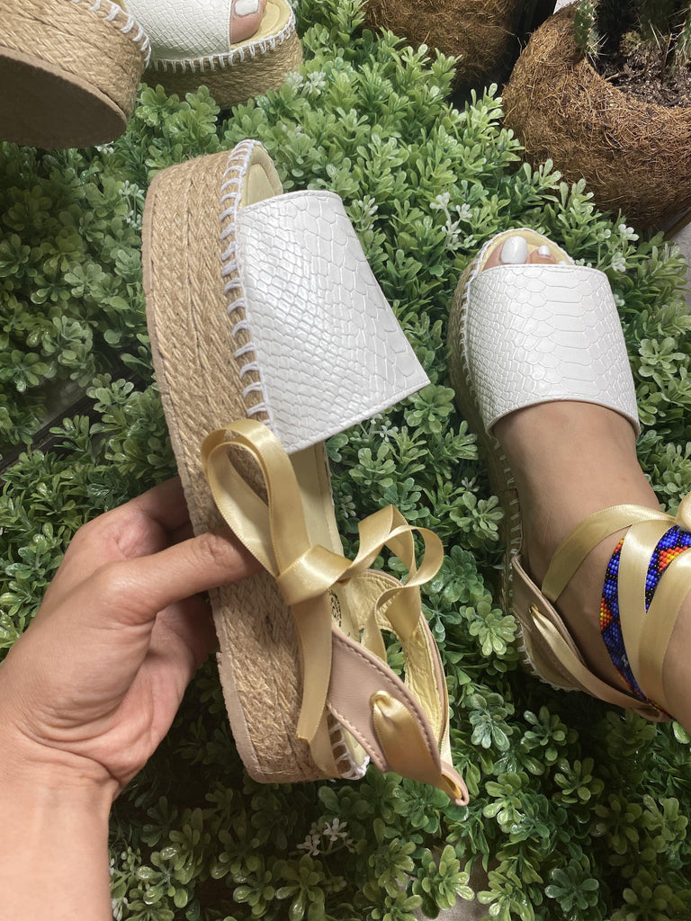 Maya Lace-Up White Espadrille Sandals - LaPerlaMX, ,[Mexican_Huaraches], [Huarache_Sandals], [Huaraches_Mexicanos], [Lace-up_Huaraches], [Leather_Huaraches], [Leather_sandals], [Handmade_sandals], [Handmade_Huaraches], [Mexican_Dresses], [Mexican_Clothing], [Mexican_shoes], [Mexican_Sandals], [women's_huarche_sandals], [Handwoven_Sandals]
