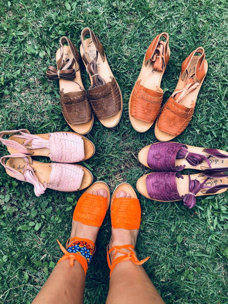 Mirinda Lace-Up Brown Huarache Sandals - LaPerlaMX, ,[Mexican_Huaraches], [Huarache_Sandals], [Huaraches_Mexicanos], [Lace-up_Huaraches], [Leather_Huaraches], [Leather_sandals], [Handmade_sandals], [Handmade_Huaraches], [Mexican_Dresses], [Mexican_Clothing], [Mexican_shoes], [Mexican_Sandals], [women's_huarche_sandals], [Handwoven_Sandals]
