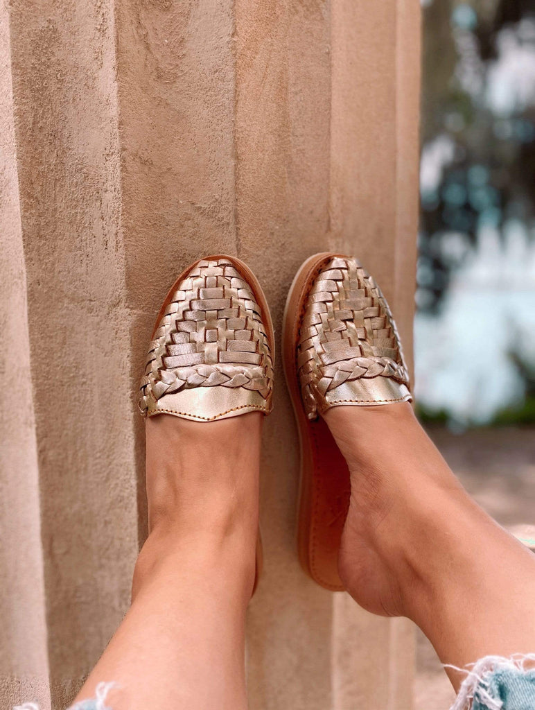 Piquito de Oro Slip-On Huarache Sandals - LaPerlaMX