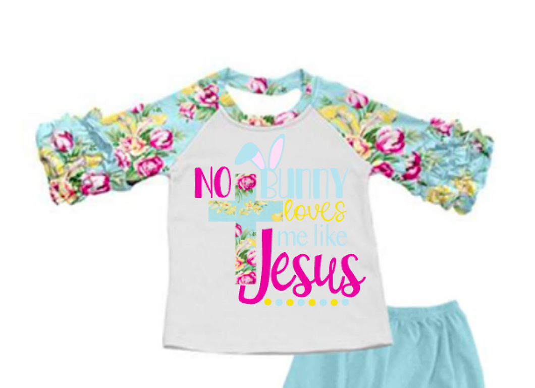 No Bunny Loves me like Jesus graphic