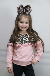 Leopard Ruffle Pull over