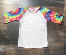 Load image into Gallery viewer, Tie Dye Raglan