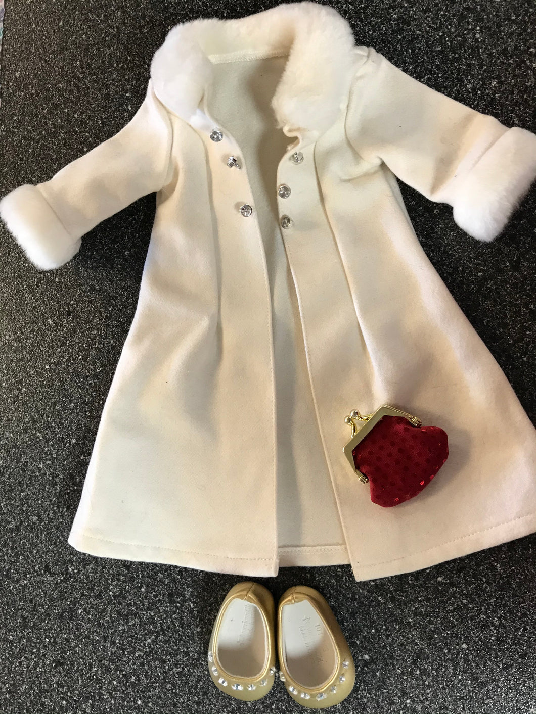 American Girl Snow White Coat Set