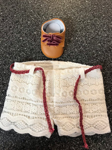 American Girl Tenney Picnic Outfit Lace Shorts