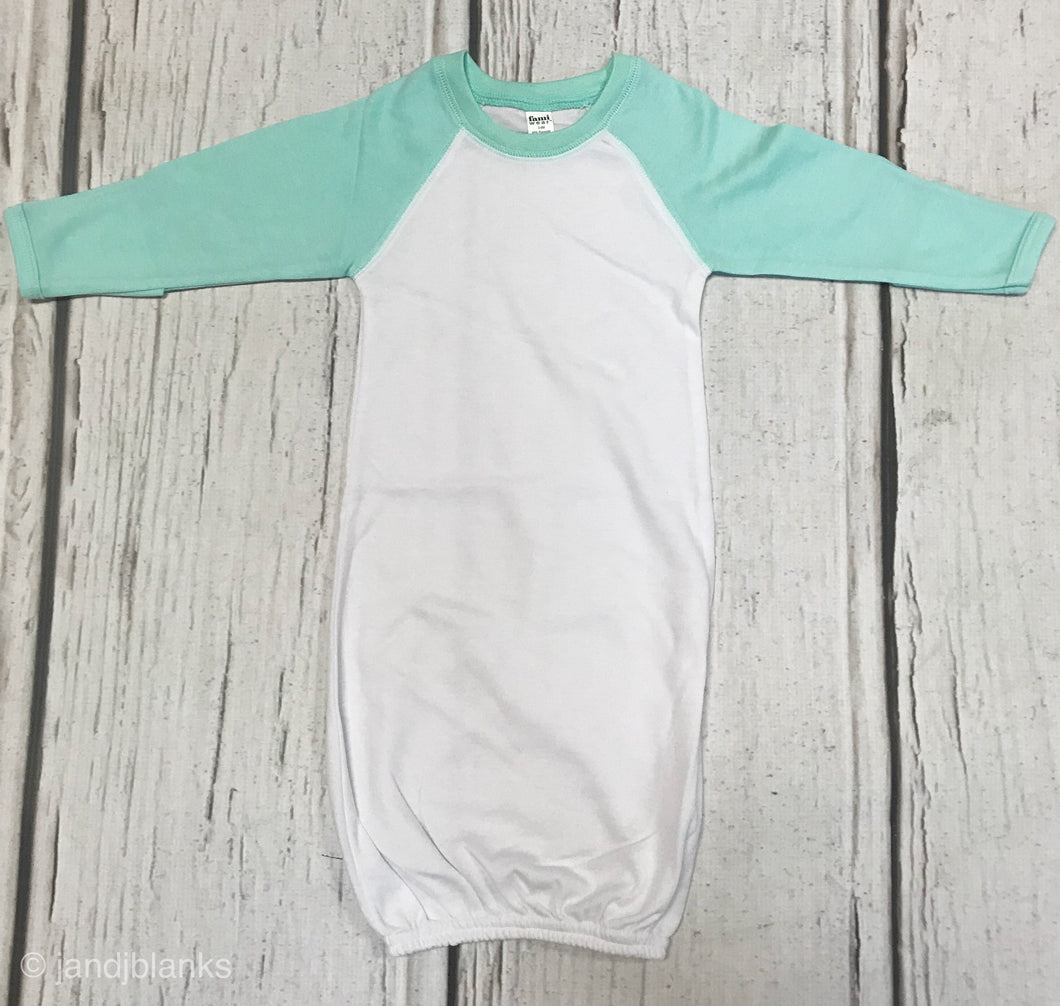 heather gray baby gown gray baby gown Sublimation blanks blank baby gown embroidery blanks Baby gown