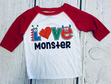 Load image into Gallery viewer, Love Monster Raglan