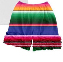 Load image into Gallery viewer, Ruffle shorts-serape stripe