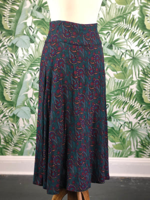 Gunne Sax Floral Paisley Skirt Size 6