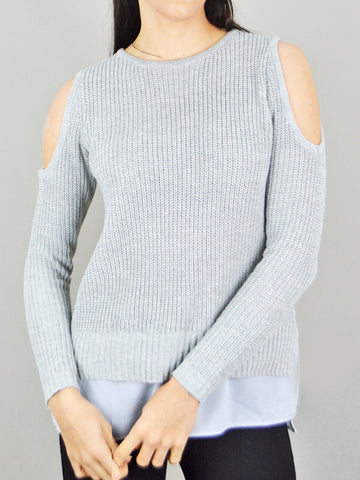 Ciao Milano Cold Shoulder Layered Jumper