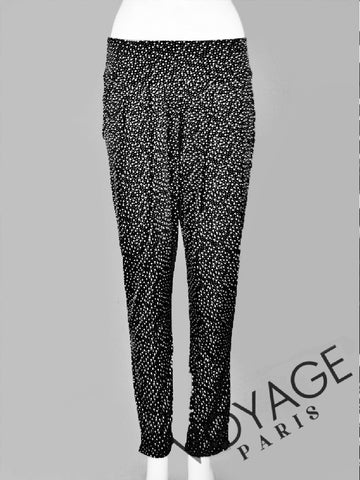 Quinze Heures Trente Abstract Print Harem Trousers