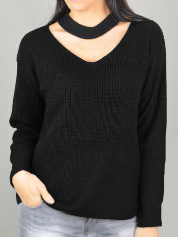 Ciao Milano Long Sleeve Choker Jumper