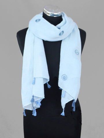 Vimoda Lightweight Embroided Dotted Scarf