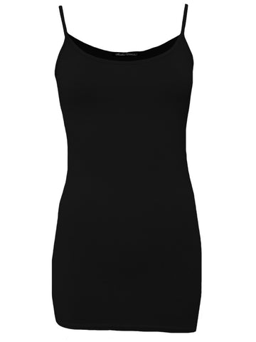 Rendez-Vous Black 'Alison' Long Strap Vest