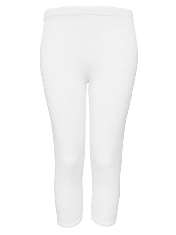 Rendez-Vous White 'Jenny' 3/4 Length Leggings