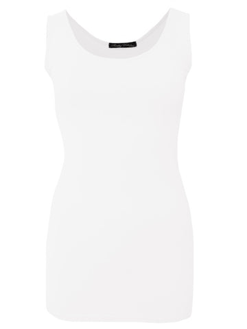 Rendez-Vous White Tulipe Sleeveless Vest