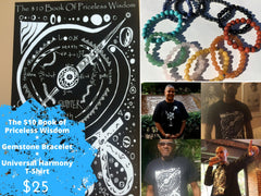 $25 DEAL *** $10 Book of Priceless Wisdom, Gemstone Bracelet, and T-Shirt *** $25 DEAL
