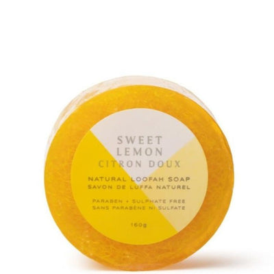 NATURAL LOOFAH SOAP · SWEET LEMON