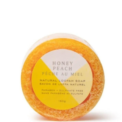 NATURAL LOOFAH SOAP · HONEY PEACH