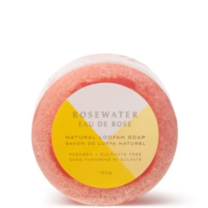 NATURAL LOOFAH SOAP · ROSE WATER