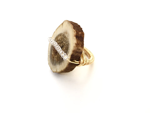 Antler Slice Ring