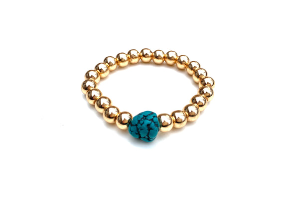 Gold Ball Bracelet - 8mm