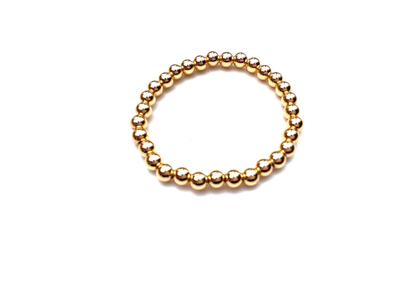 Gold Ball Bracelet - 6mm