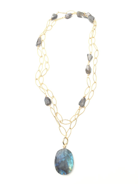 Magia Necklace - Labradorite