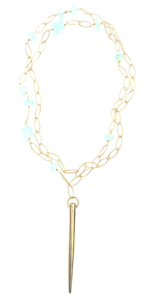 Magia Spike Necklace - Chalcedony