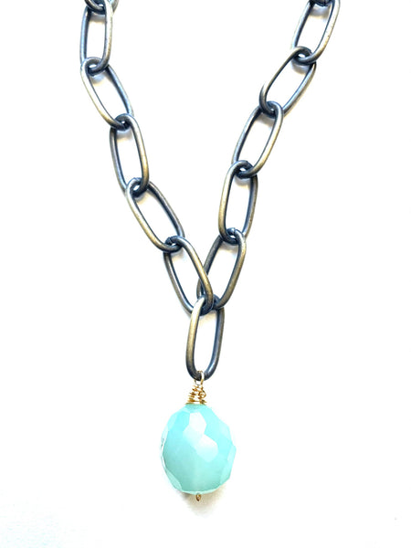 Rocked Necklace- Chalcedony