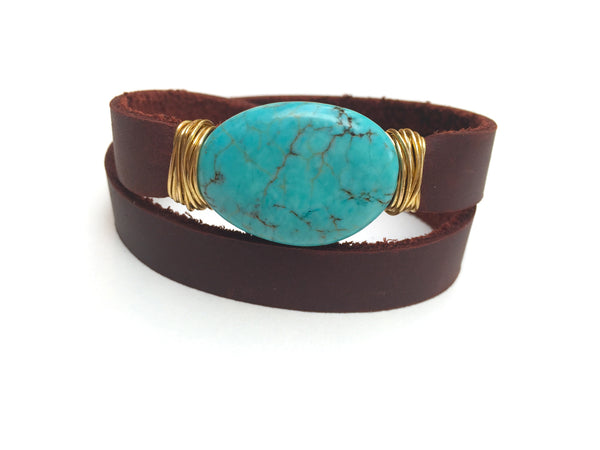 Smooth Turquoise Wrap