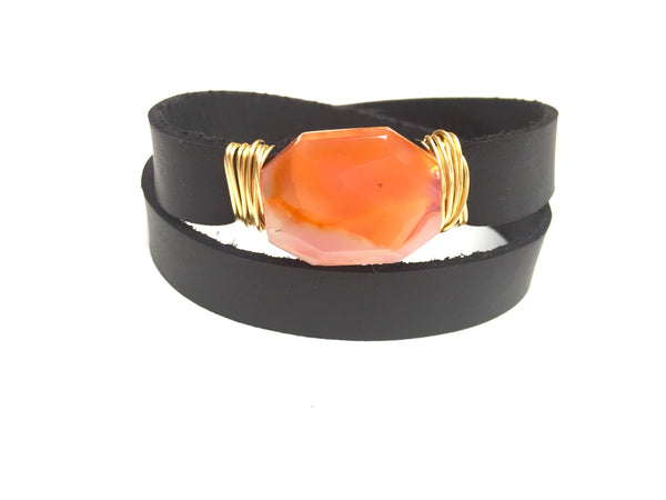 Orange Agate Wrap