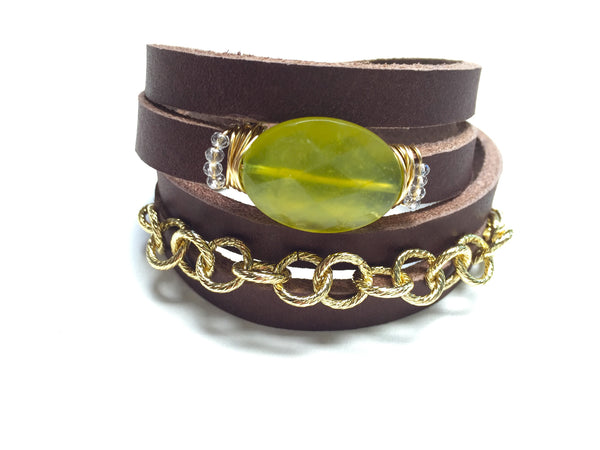 Leather-Chain Wrap