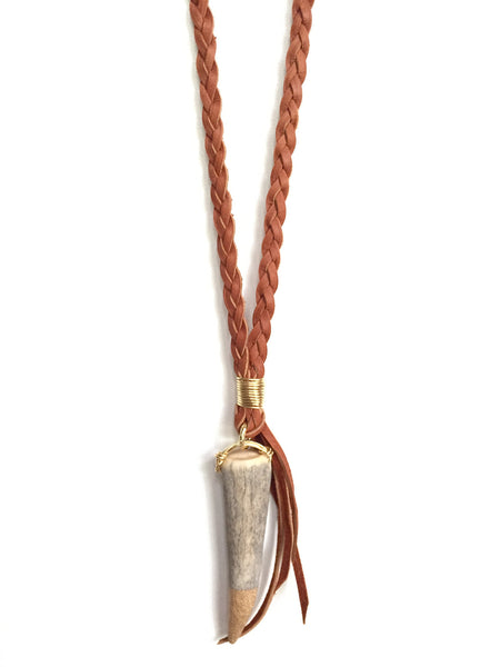 Mystic Antler Tip Necklace