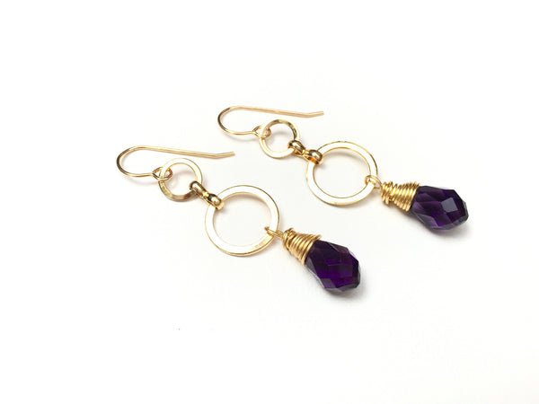 Violet Dangle Earrings