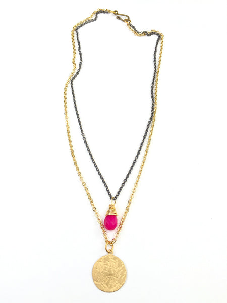 Gypsy Pink Necklace- Short
