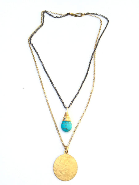 Tantalizing Turquoise Necklace- Short