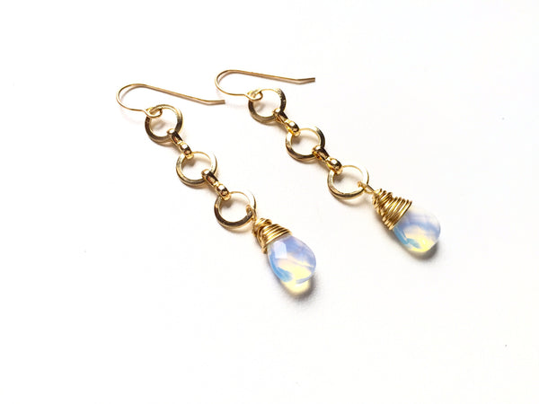 Opal Strand Earrings